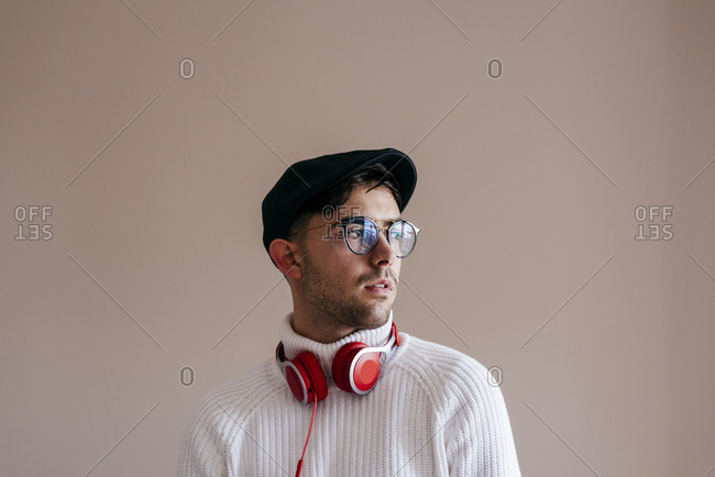 Casual man with headphones