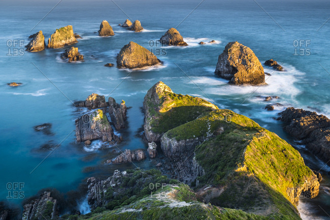 New Zealand- South Island- Southern Scenic Route- Catlins- sunset at Nugget Point