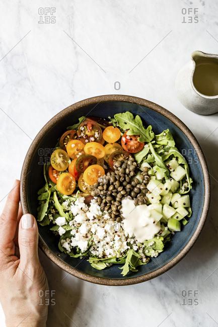Lentil and quinoa salad