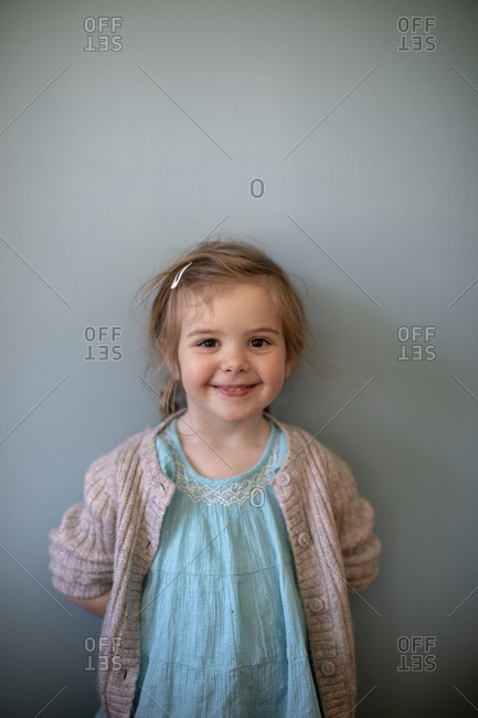 Portrait of a happy little girl