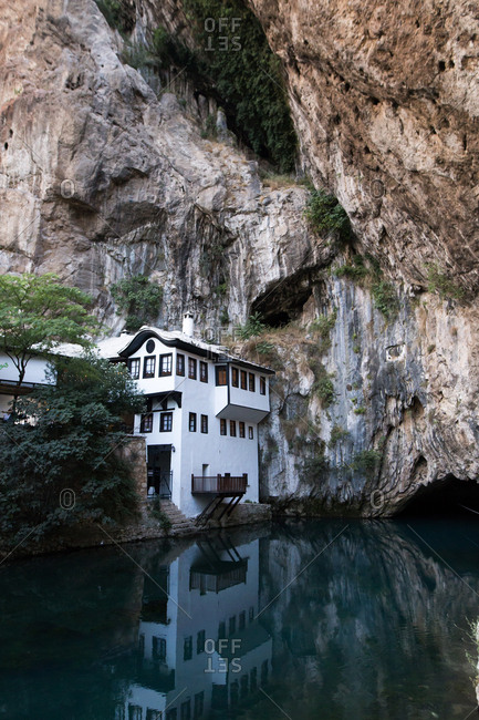 The dervish house in Blagaj, Bosnia and Herzegovina