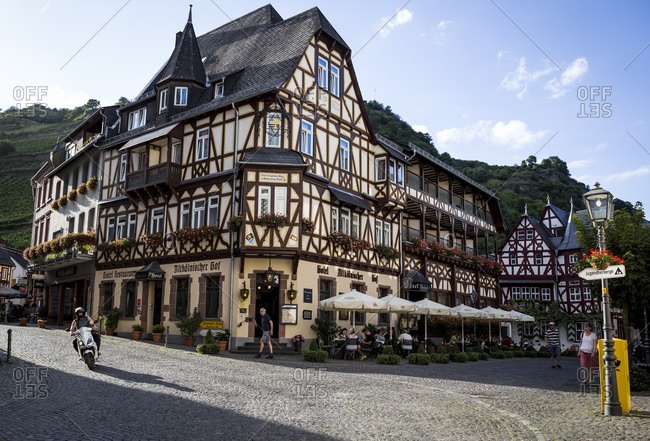 August 4, 2017 - Bacharach, Germany: The Altkolnischer Hof, a hotel and restaurant in the centre of Bacharach, Germany