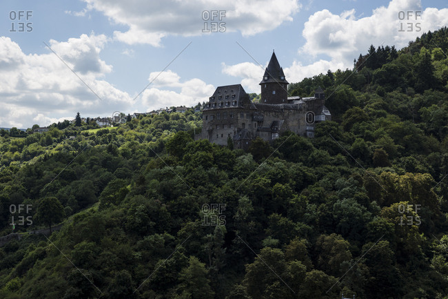 A view of Stahleck Castle in Bacharach, Germany