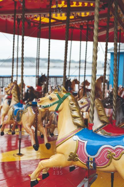 Carousel at Llandudno Pier, North Wales, UK