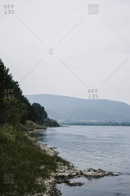 Peaceful lakeshore