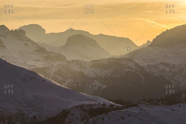 Europe, Italy, Alps, Dolomites, Mountains, View from Passo Giau