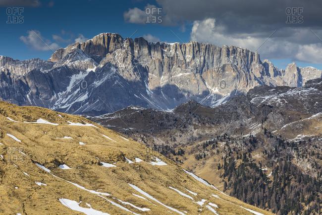 Europe, Italy, Alps, Dolomites, Mountains, Passo Rolle, Marmolada