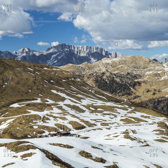 Europe, Italy, Alps, Dolomites, Mountains, Passo Rolle