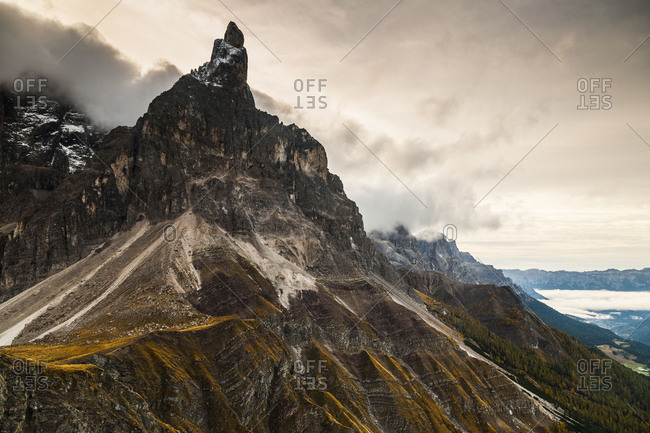 Europe, Italy, Alps, Dolomites, Mountains, Passo Rolle, Pale di San Martino