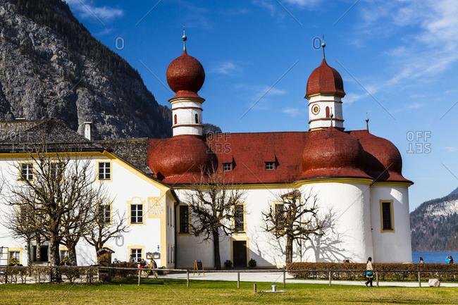 Europe, Germany, Bavaria, Königssee, St, Bartholomew's Church, Berchtesgaden National Park