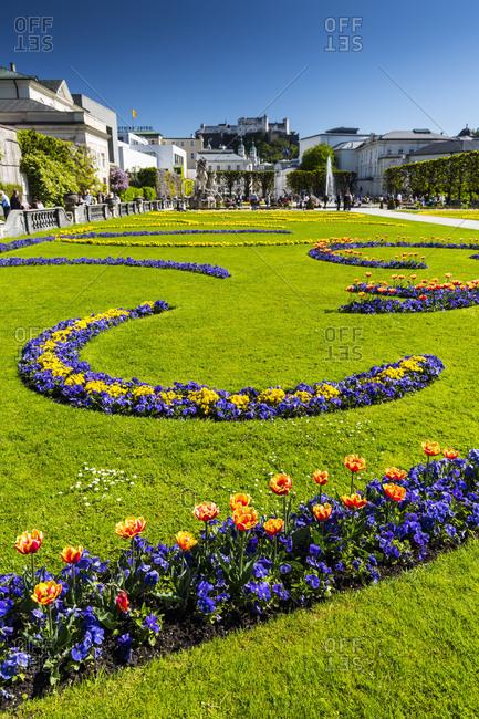 Europe, Austria, Salzburg, Mirabell Palace and Gardens