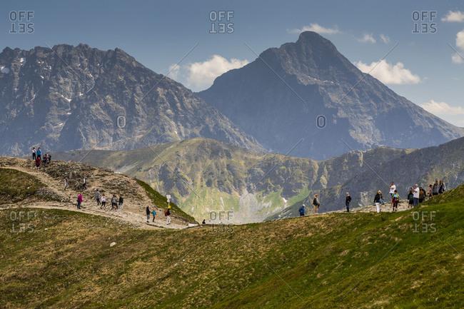 Europe, Poland, Lesser Poland Voivodeship, Kasprowy Wierch, Kasper Peak / Tatra Mountains / Tatra National Park