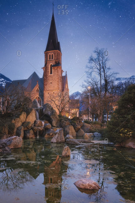 Schlosskirche church, Interlaken, Bern Canton, Switzerland