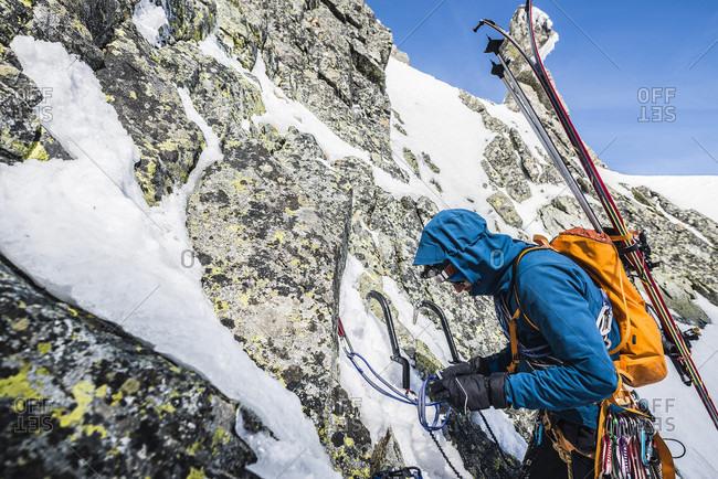 Mountain climber, Vysoka, Tatra Mountains, Slovakia