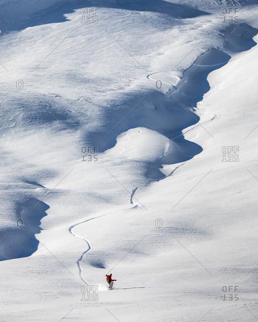 Man snowboarding, Whistler, British Columbia, Canada