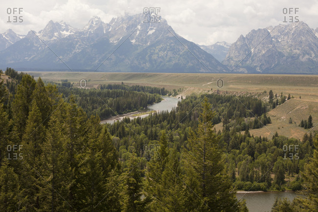 View of the Tetons and Snake River from the spot Ansel Adams made famous