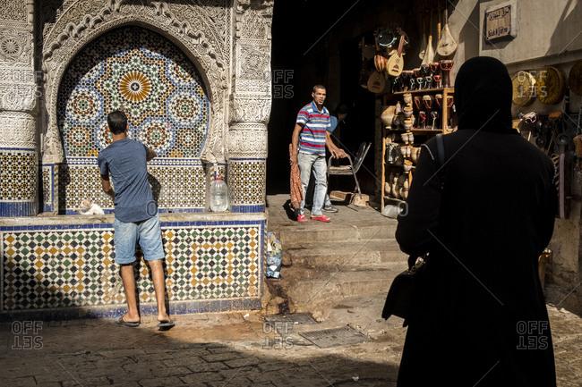 Souk Nejjarine square, Fes, Morocco