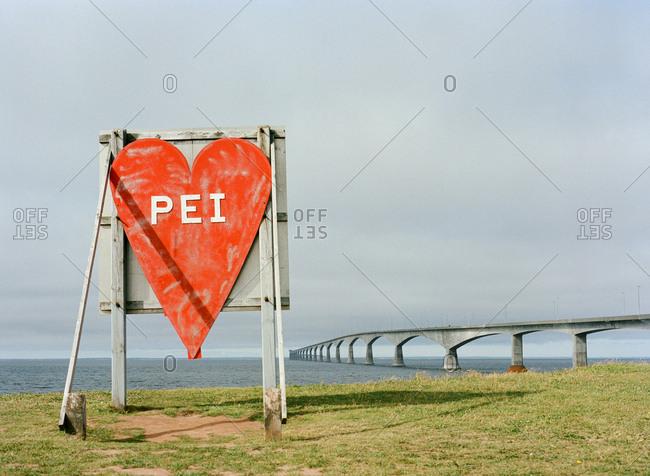 Heart sign on Prince Edward Island, Canada