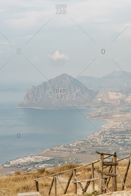 Coastline and Monte Cofano in Erice, Italy