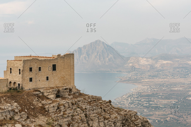 Fortress on the coast of Erice, Italy