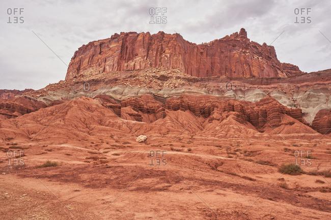Sandstone formations in Capital Reef National Park, Utah