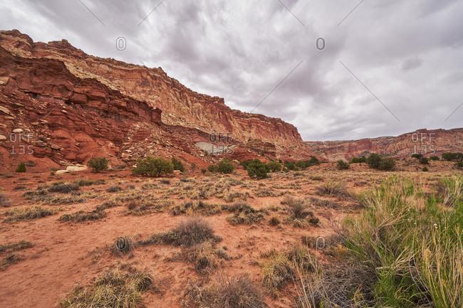 Sandstone hills in Capital Reef National Park, Utah
