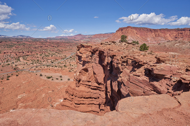 Rocky cliff in Capital Reef National Park, Utah