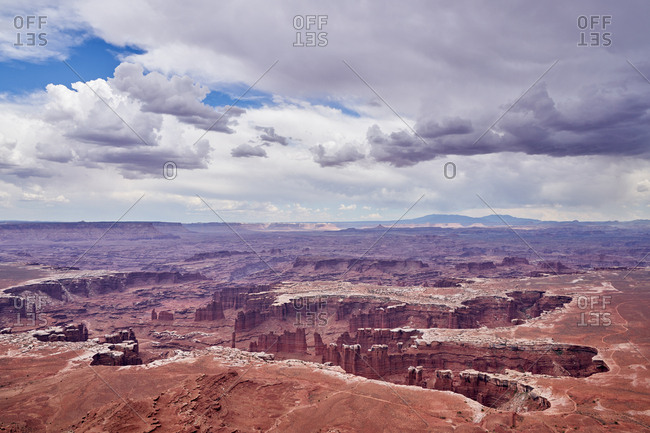 Elevated view over Canyonlands National Park, Utah
