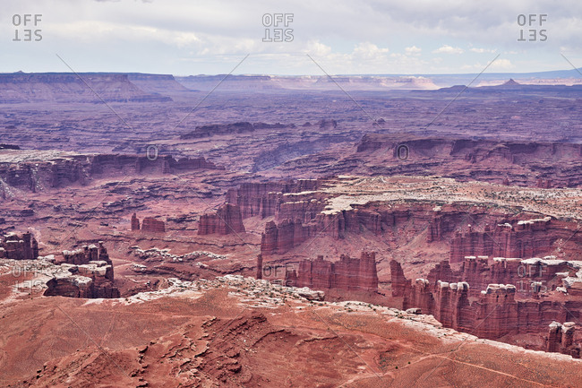 View over Canyonlands National Park, Utah