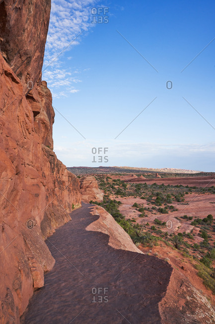 Hillside trail in Arches National Park, Utah