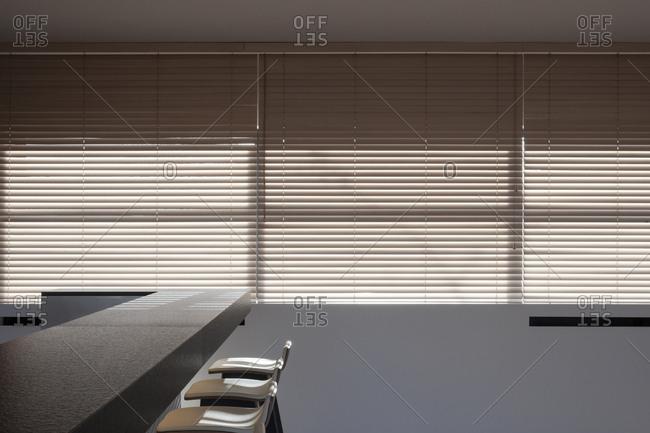 Bar inside modern home