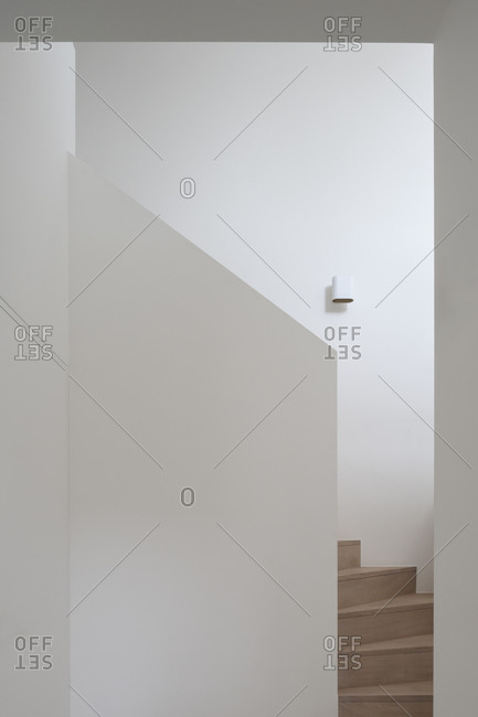 Interior staircase in modern home