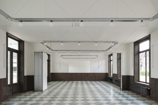 Interior of large, empty multipurpose room