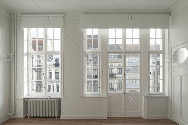 View of street from windows inside home