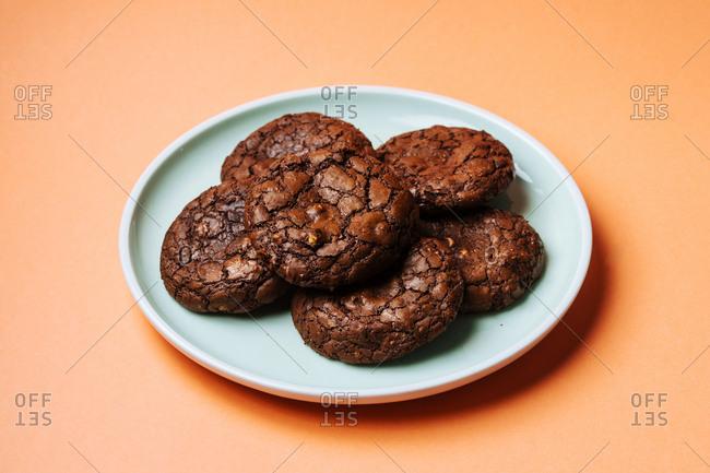 Chocolate mochi Japanese cookies