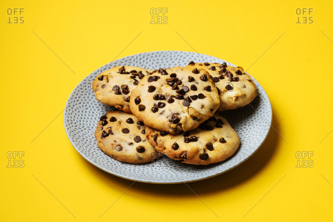 Chocolate chip mochi Japanese cookies
