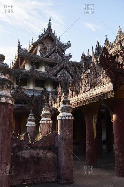 Details of Bagaya Monastery Amarapura, Myanmar