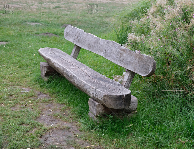 Old wooden outdoor bench