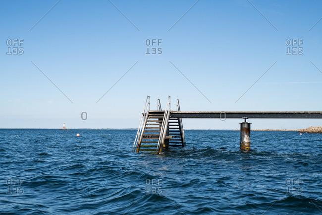 Ocean pier with steps