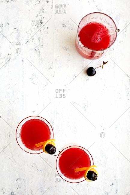 Spanish cherry bellini