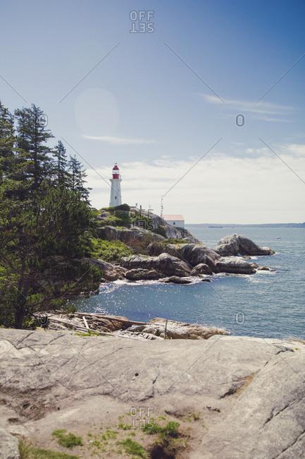 A rocky shore in Vancouver, British Columbia.