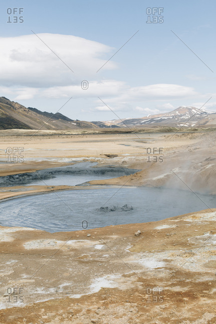 Namafjall geothermal field in Northeast by Lake Myvatn, Iceland