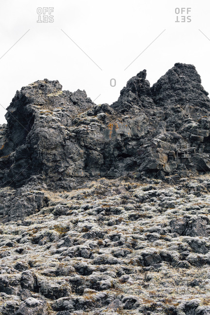 Rock formation at Dimmuborgir lava fields