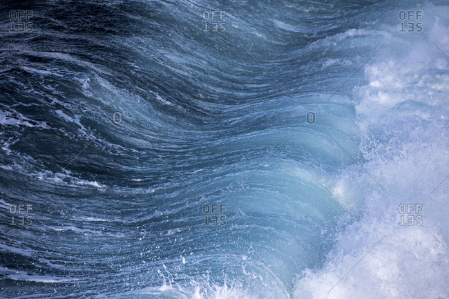 Close-up of rolling ocean waves