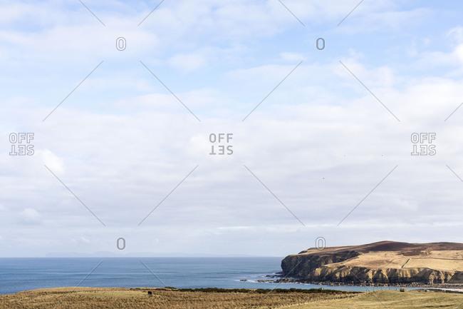 Scenic view of coastal headlands