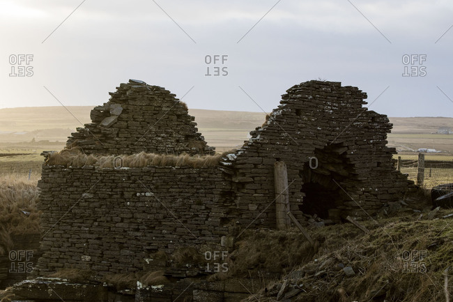 Remains of ancient brick building
