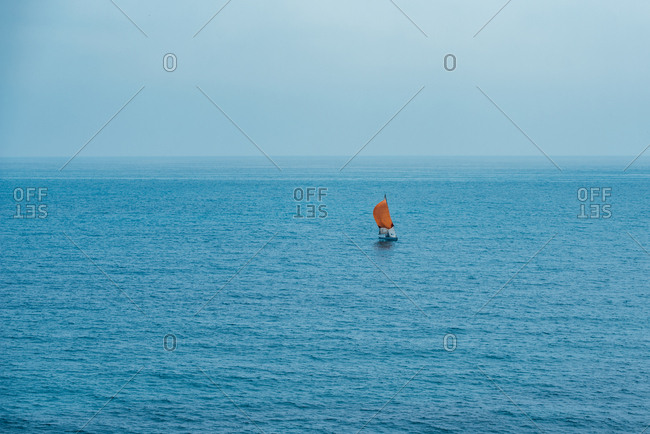 Sailboat on the middle of the ocean