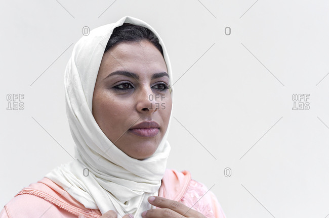 Nice Moroccan woman with hijab and typical Arabic dress