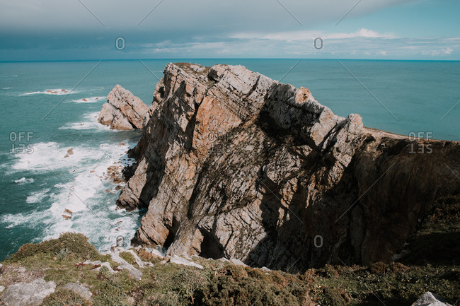 Coastal rocks and the ocean