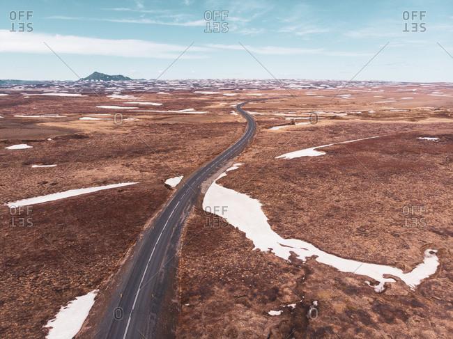 Road going through mountains